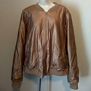 Forever 21 metallic bomber jacket